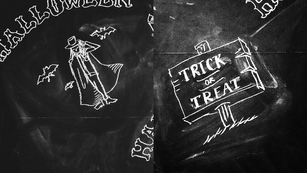 """チョークレタリング Chalk Lettering – """"Halloween"""""""